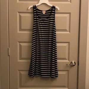 Mossimo Black and White Striped Dress